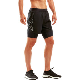 """2XU XVENT 2in1 5"""" Compression Shorts Men black/silver reflective"""